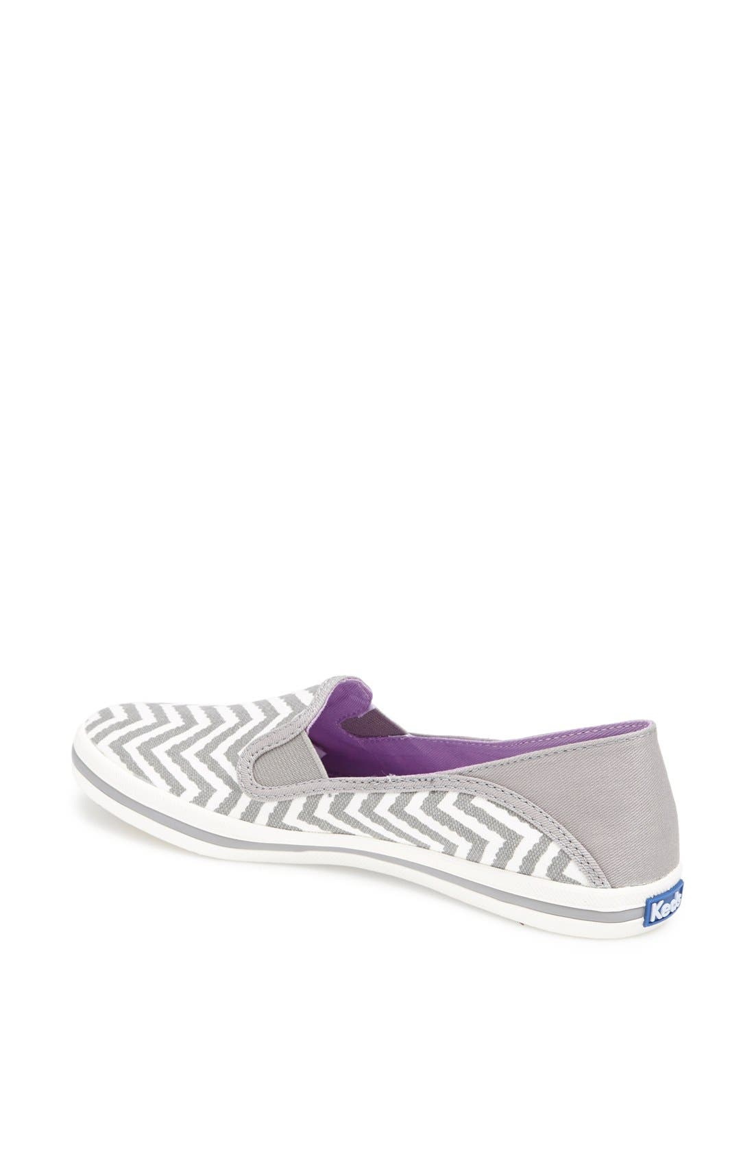 Alternate Image 2  - Keds® 'Crash Back - Zigzag' Canvas Slip-On Sneaker (Women)