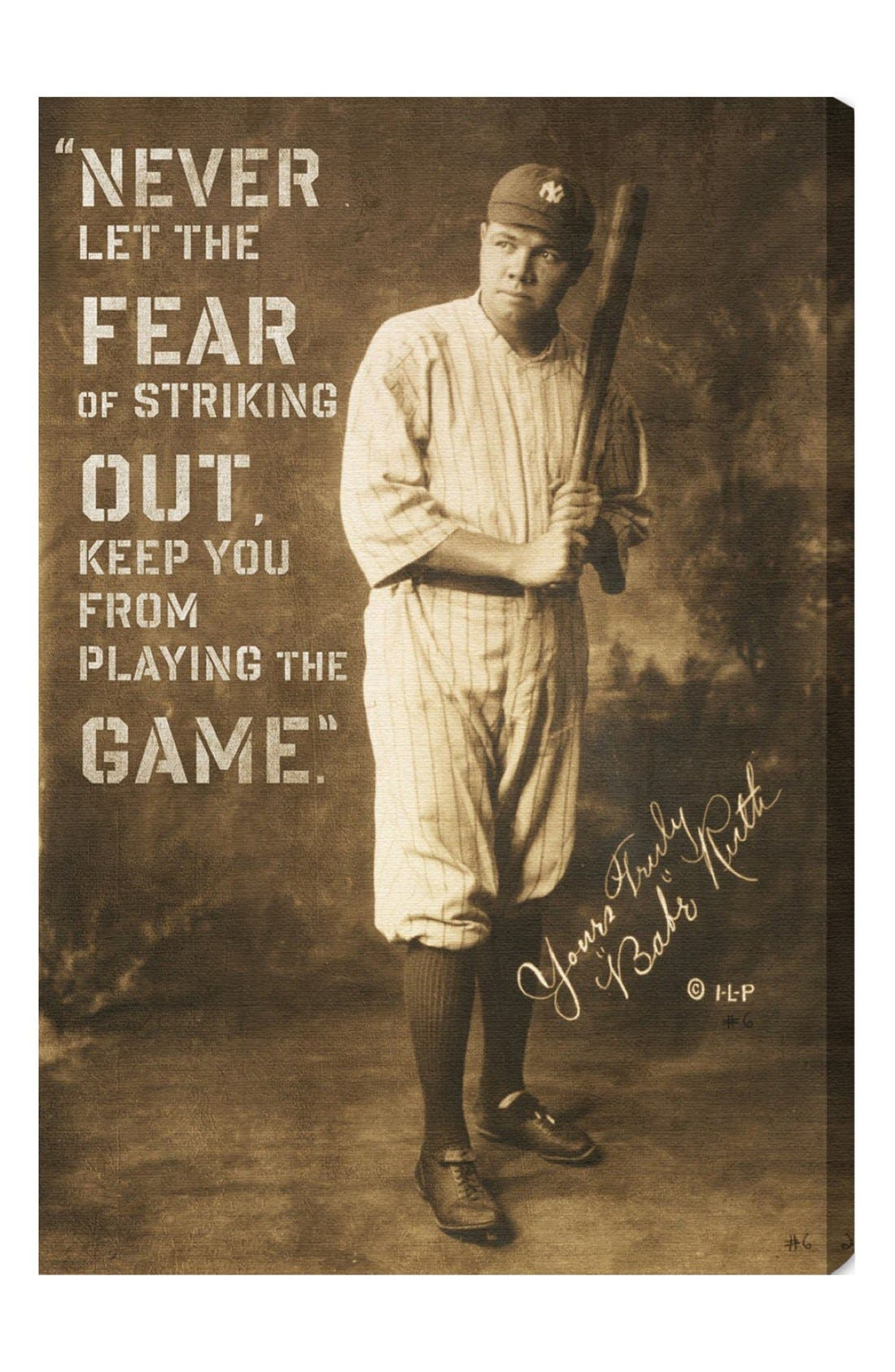 Alternate Image 1 Selected - Oliver Gal 'Babe Ruth' Wall Art
