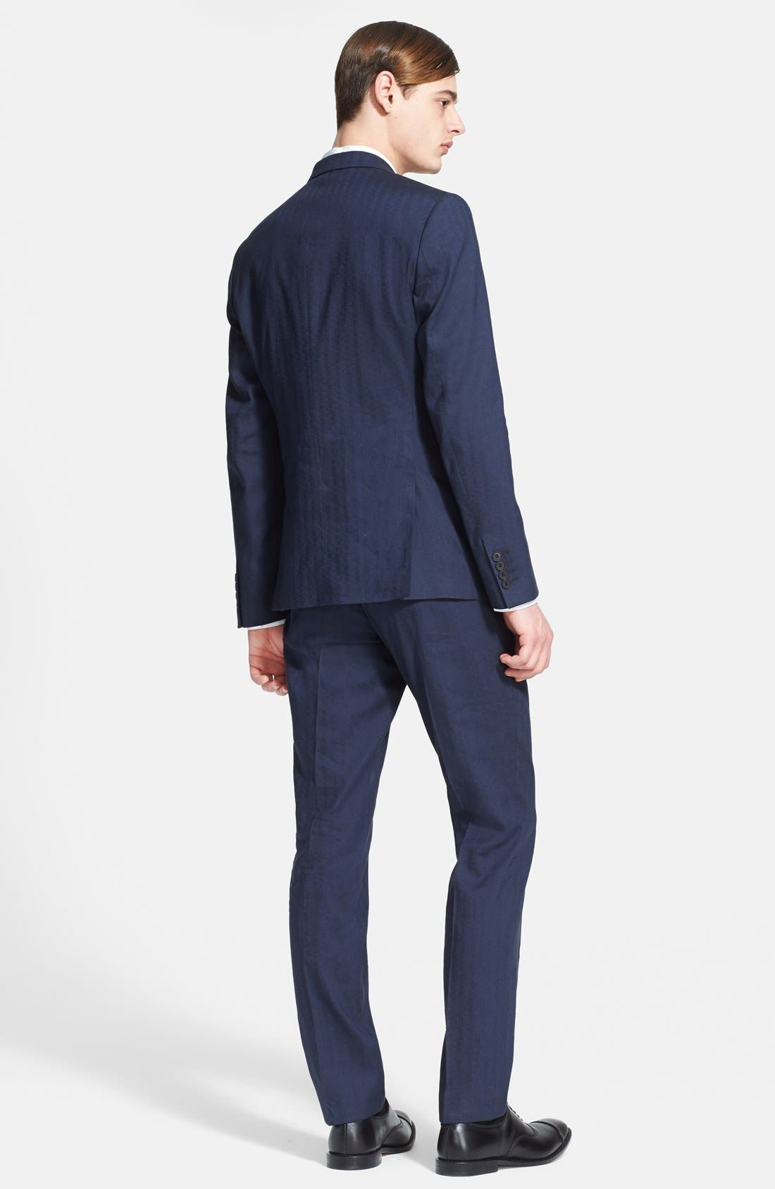 Alternate Image 2  - Paul Smith London 'Kensington' Dot Check Linen Blend Suit