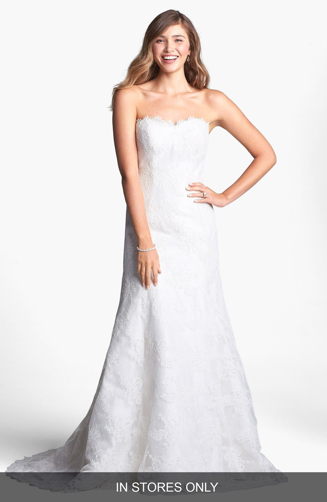 Main Image - Heidi Elnora 'Riley Grace' Lace Overlay Silk Dupioni Dress (In Stores Only)