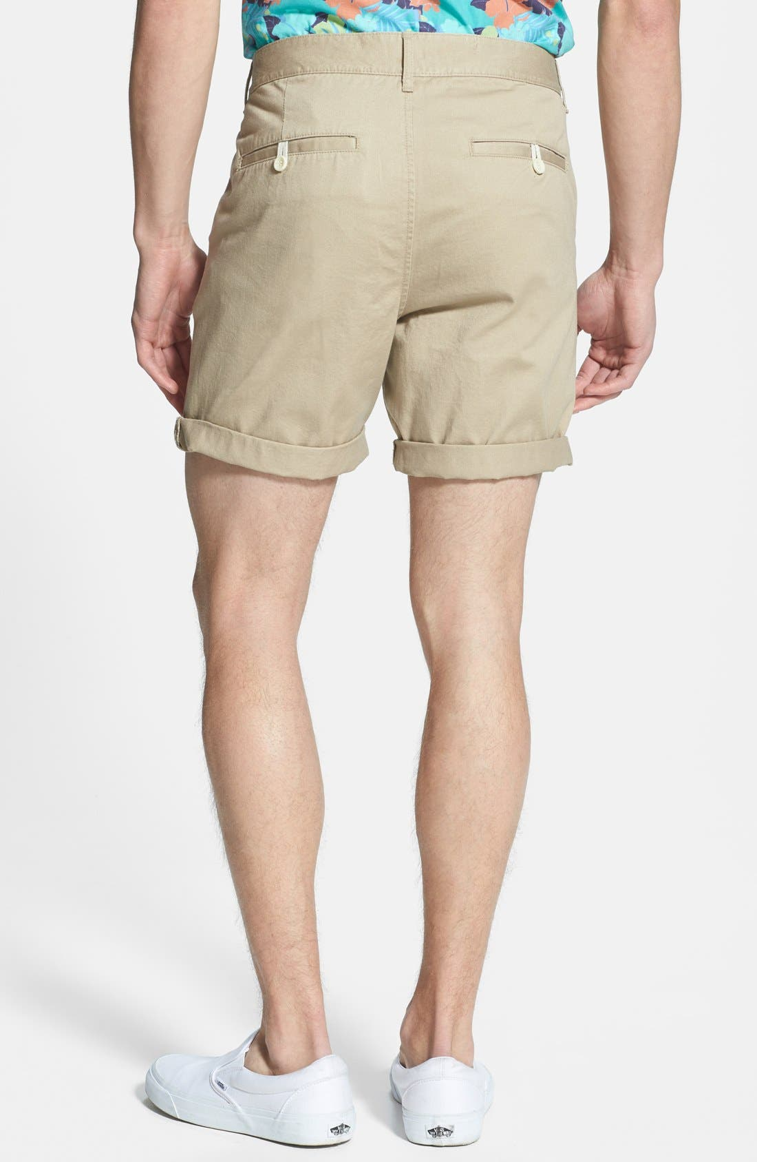 Alternate Image 2  - Topman Skinny Fit Chino Shorts