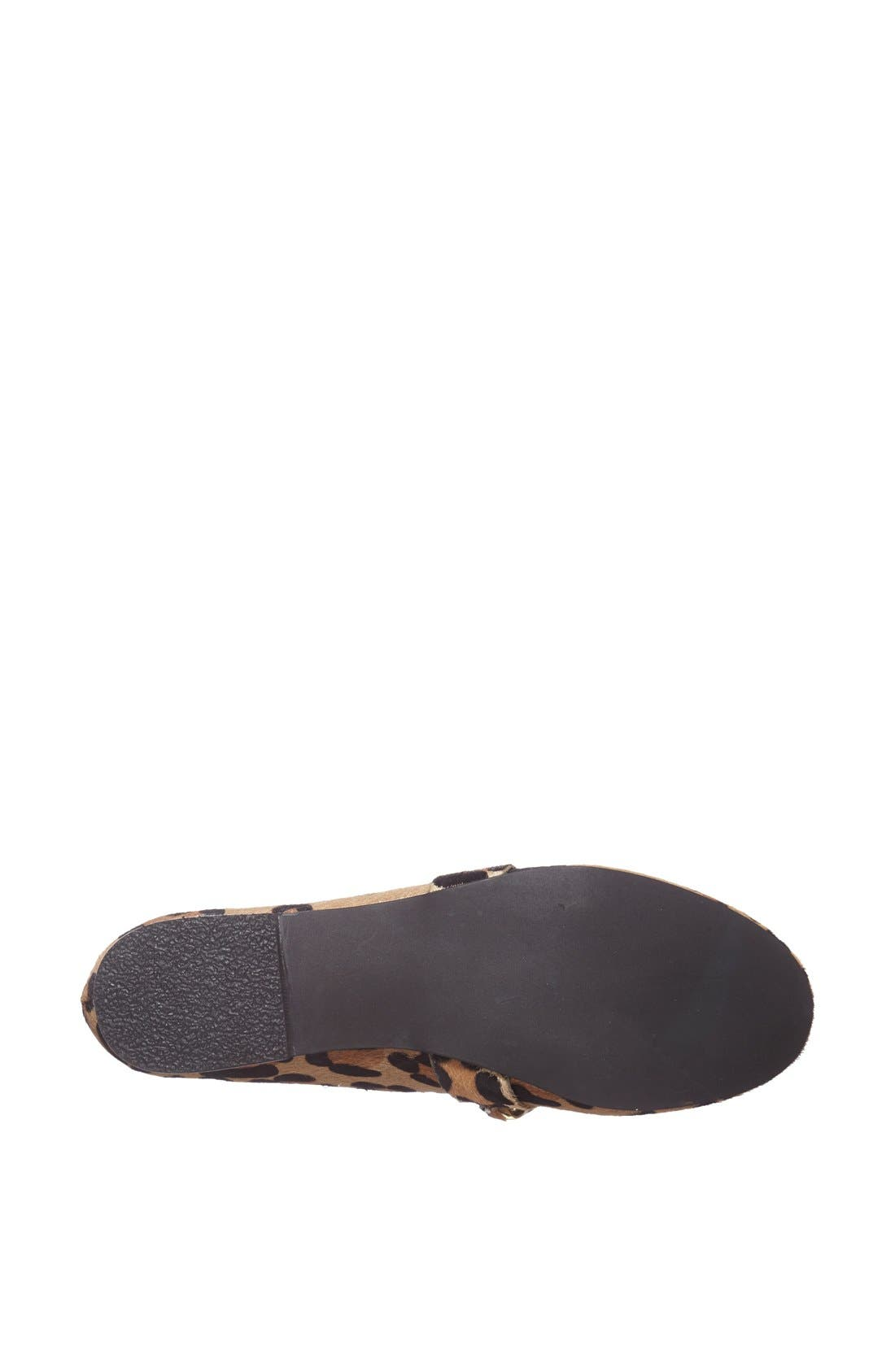 Alternate Image 4  - Steve Madden 'Chaingng' Calf Hair Flat