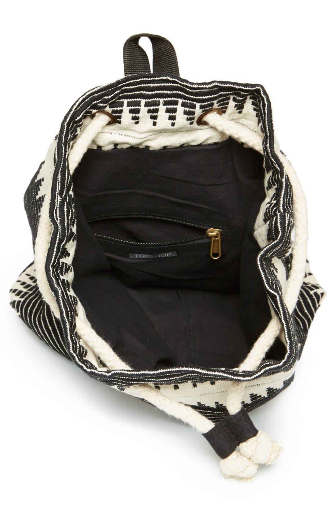Alternate Image 2  - Topshop 'Zigzag' Backpack