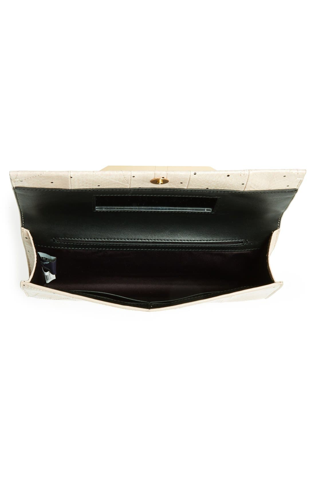 Alternate Image 3  - B Brian Atwood 'Ingrid' Snake Embossed Leather Clutch