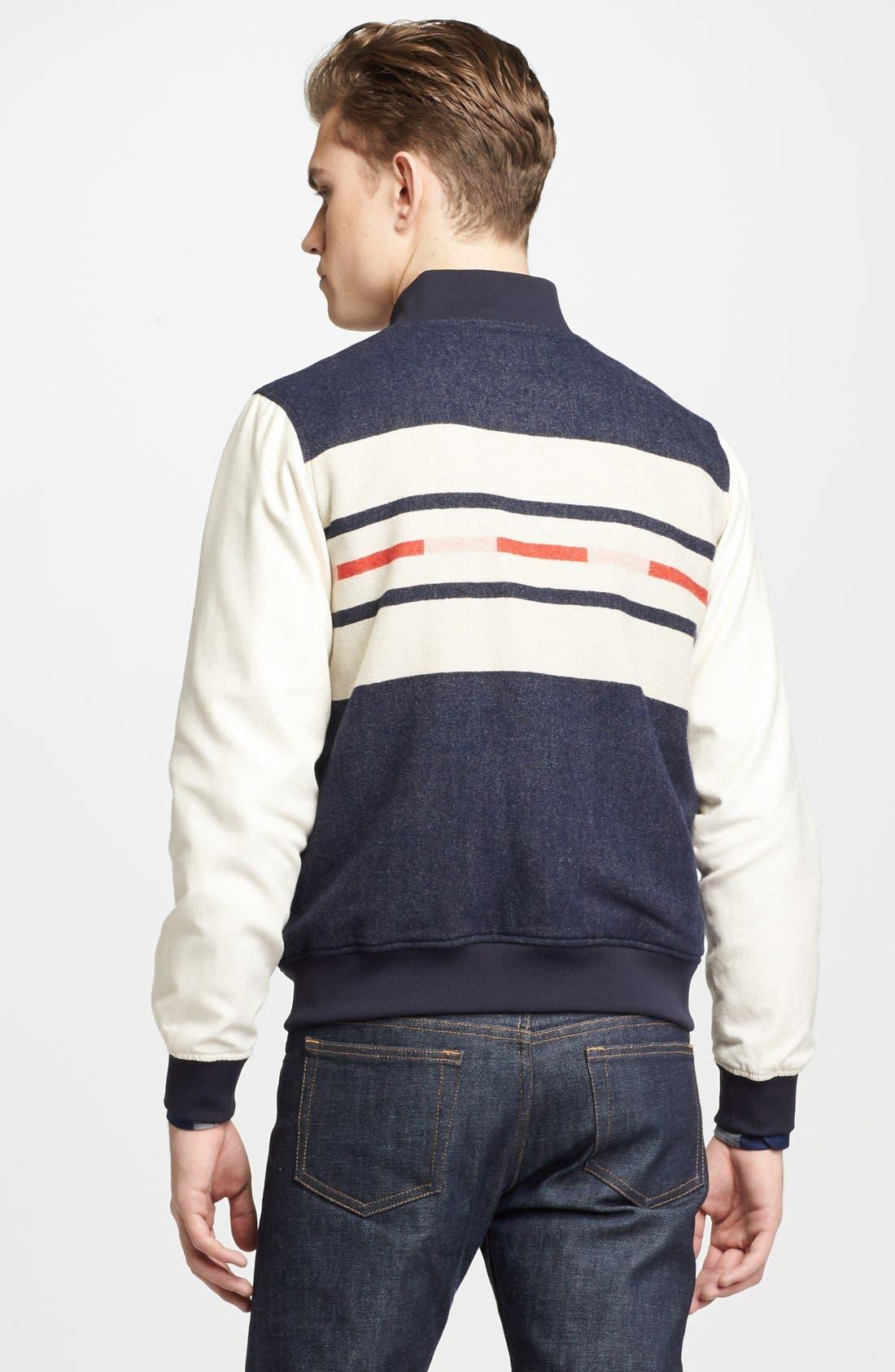 Alternate Image 2  - Pendleton Portland Collection 'Franklin' Camp Stripe Varsity Jacket