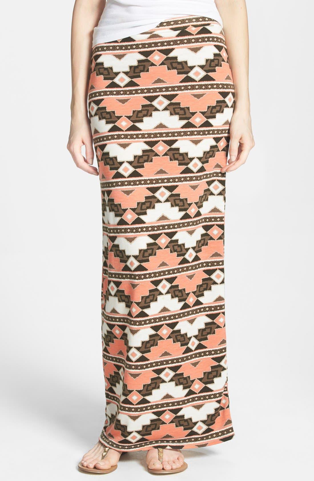 Main Image - Nikki Rich Print Maxi Skirt