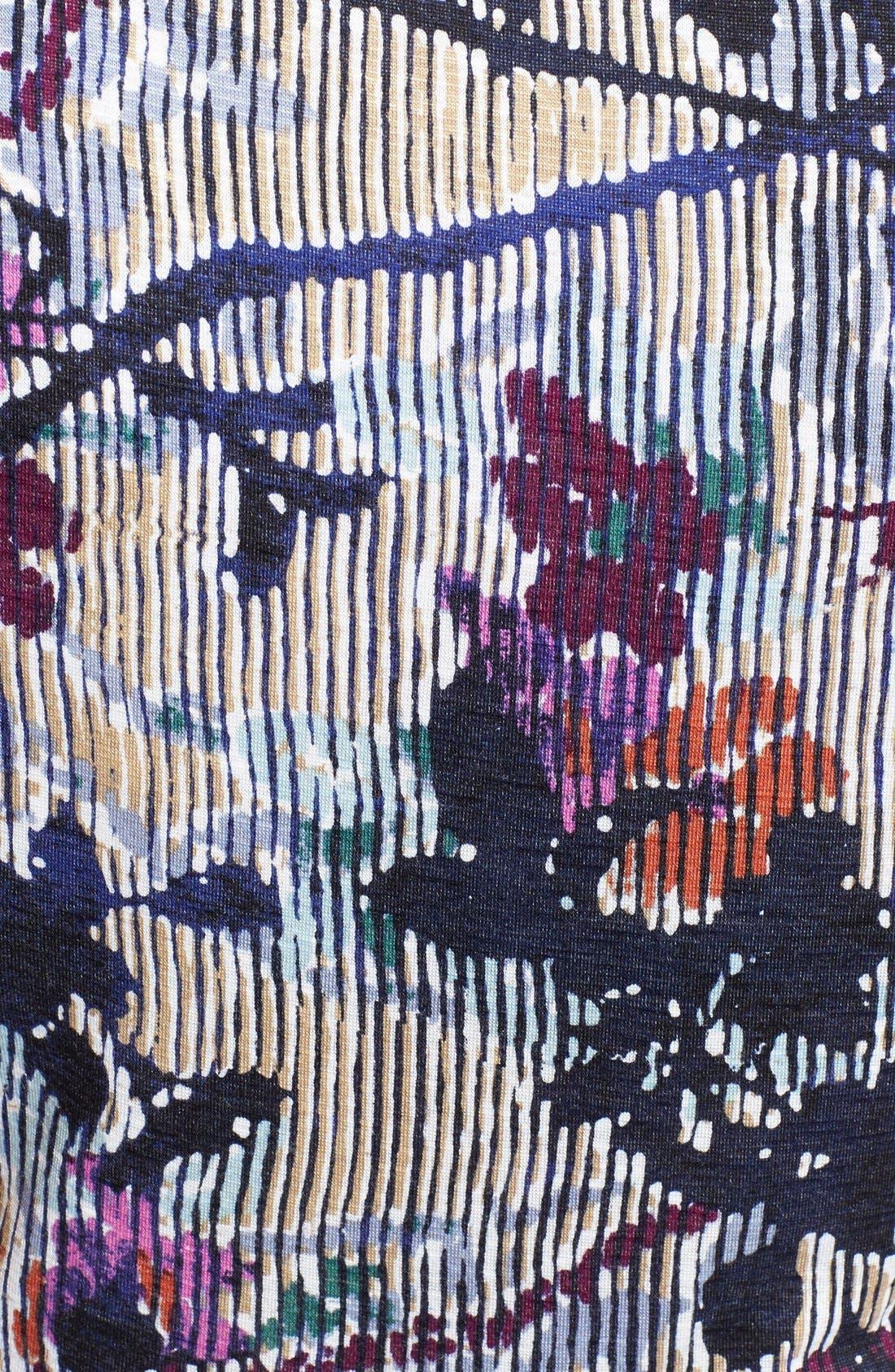 Alternate Image 3  - NIC+ZOE 'Floral Vines' Belted Jersey Dress