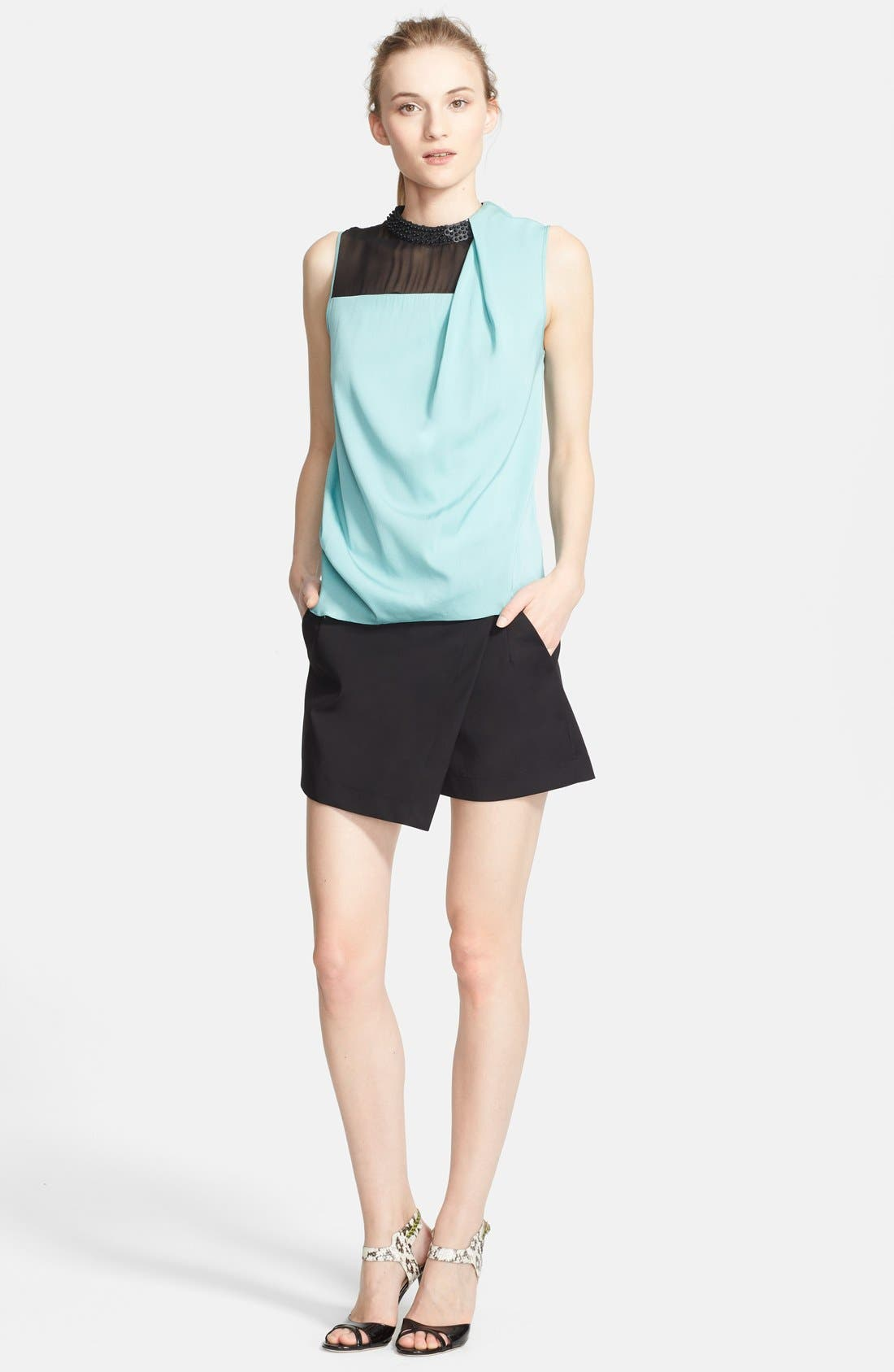 Main Image - Robert Rodriguez Silk Top & Techno Skort
