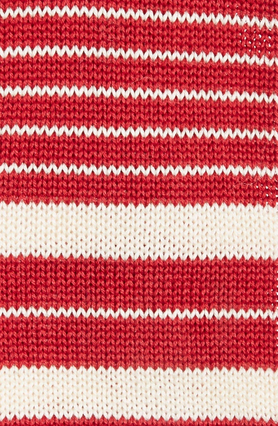 Alternate Image 2  - IVY PREPSTER Stripe Knit Cotton Tie