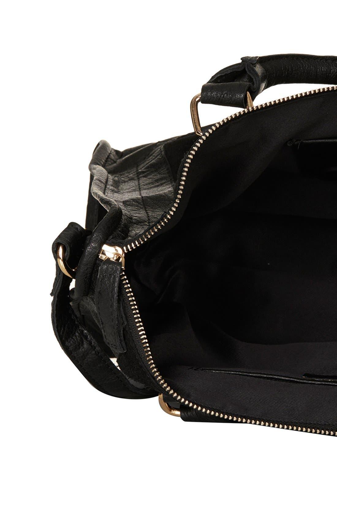 Alternate Image 4  - Topshop Leather & Suede Satchel