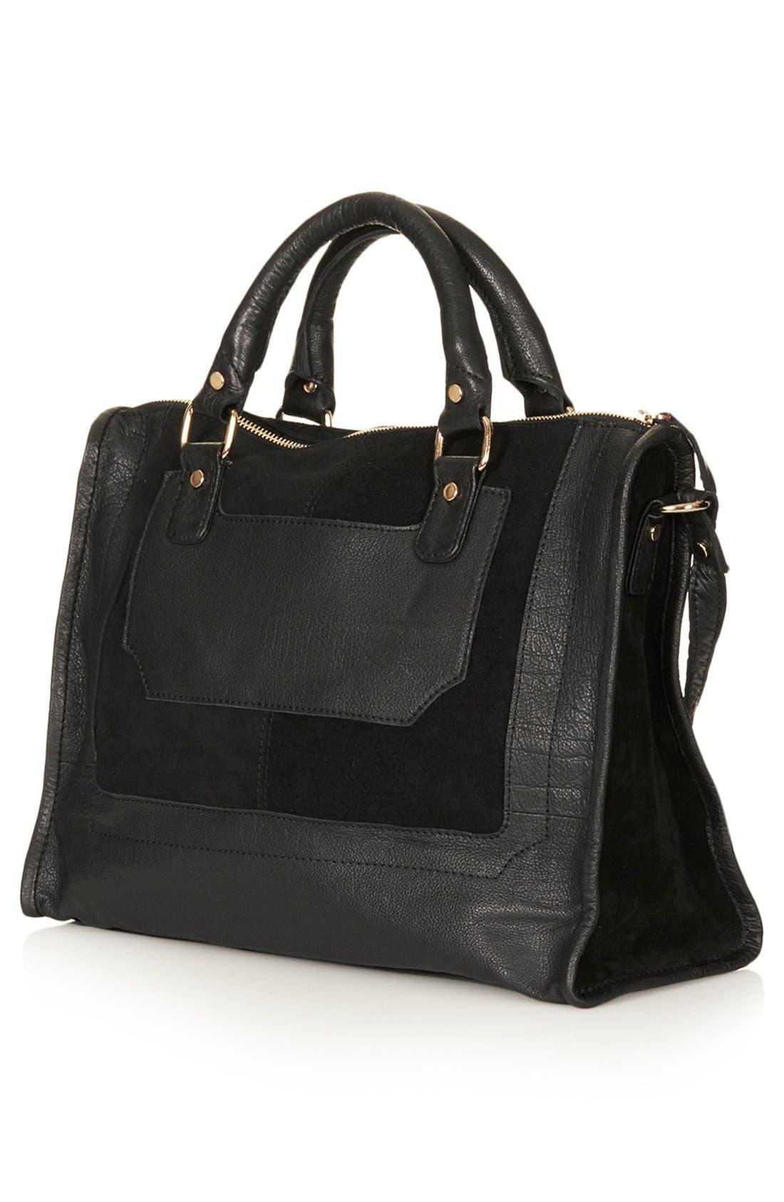 Alternate Image 3  - Topshop Leather & Suede Satchel