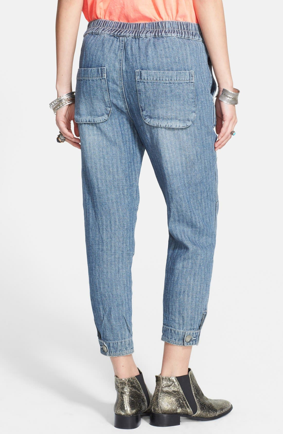 Alternate Image 2  - Free People Linen Blend Harem Pants