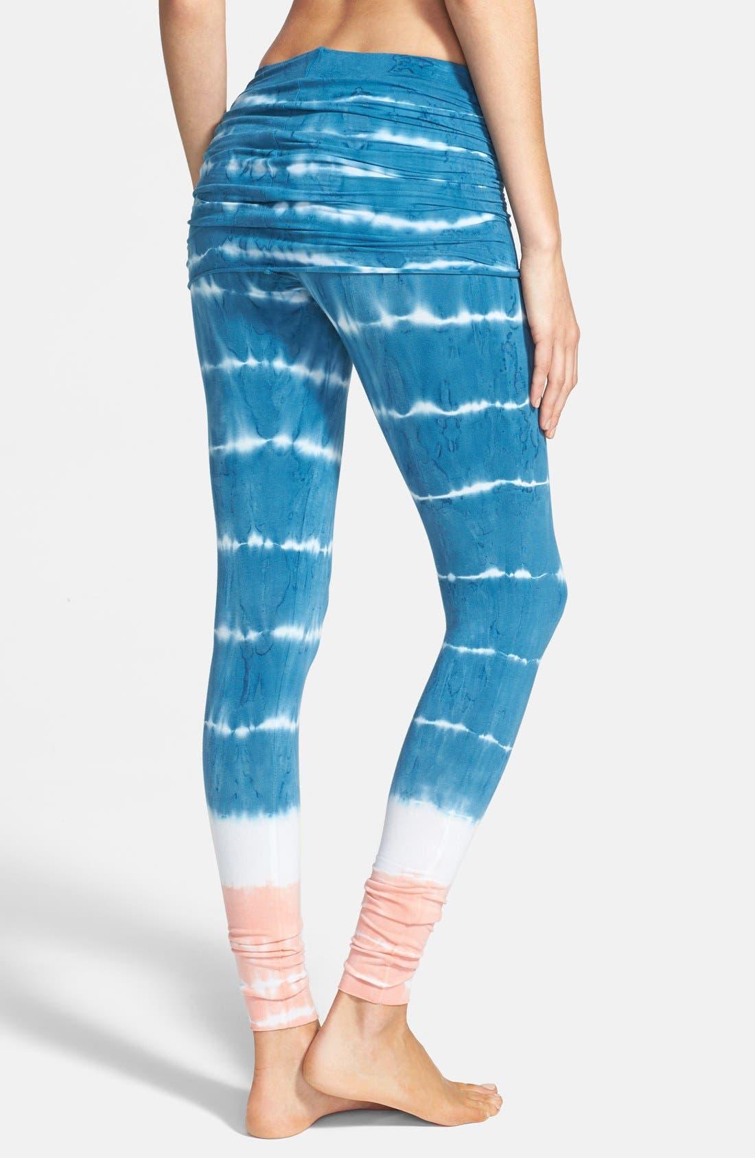 Alternate Image 2  - Omgirl 'Bold Stripe Nomad' Organic Cotton Leggings