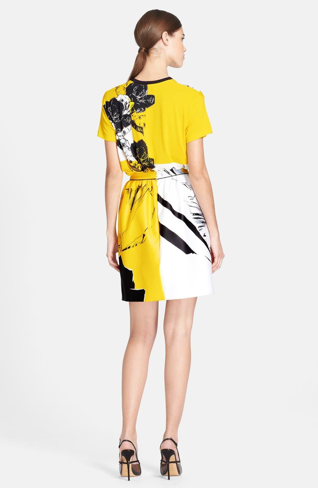 Alternate Image 4  - Prabal Gurung Rose Print Skirt