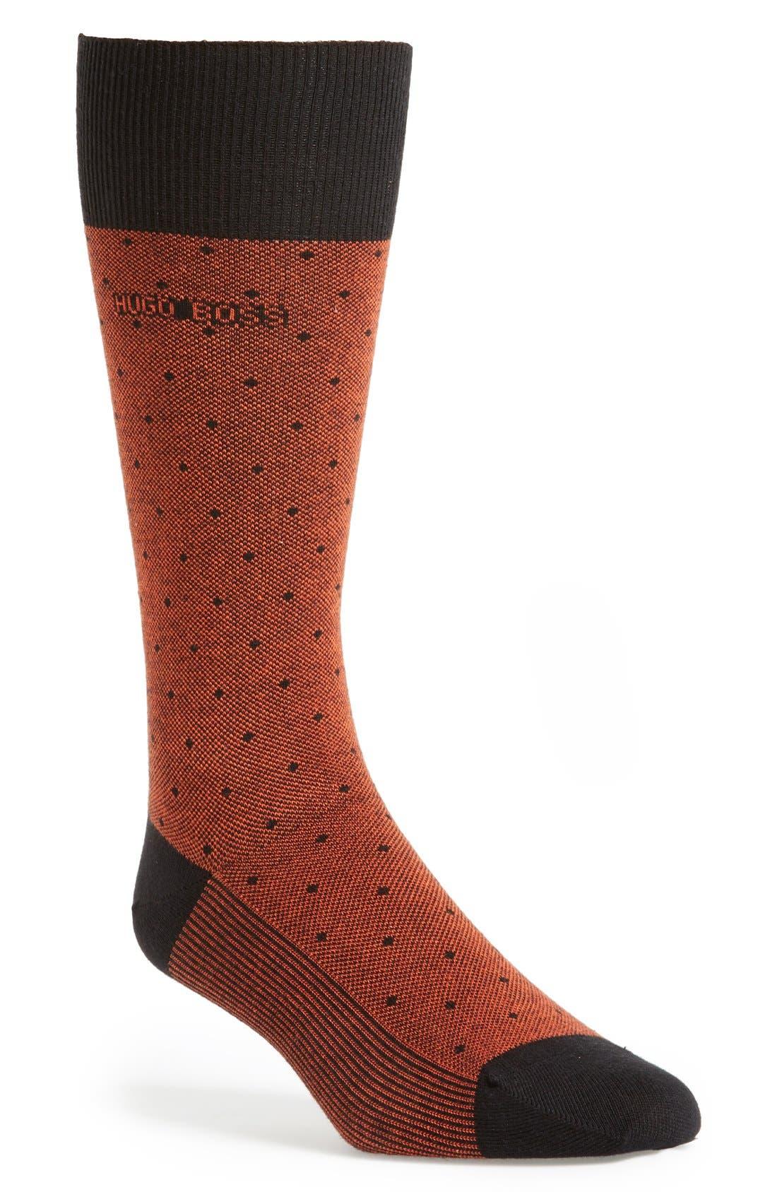 Alternate Image 1 Selected - BOSS HUGO BOSS Dot Socks