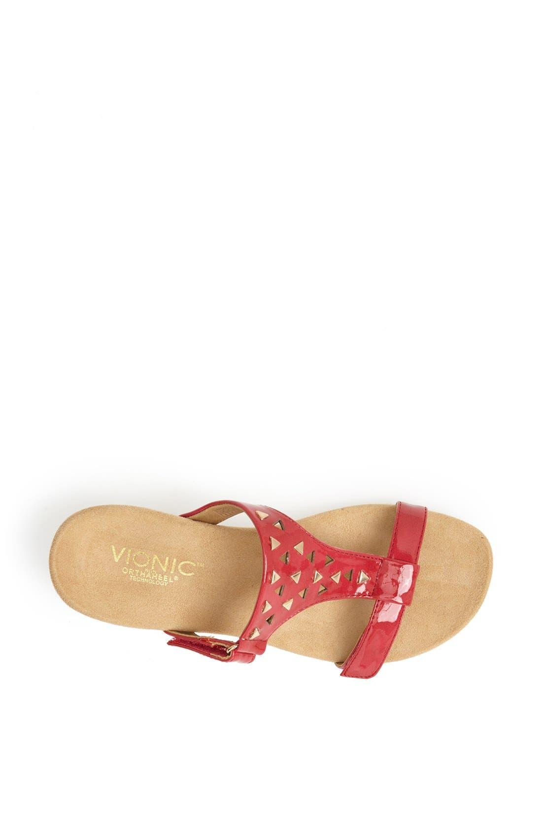 Alternate Image 3  - Vionic 'Maggie' Geometric Cutout Wedge Sandal