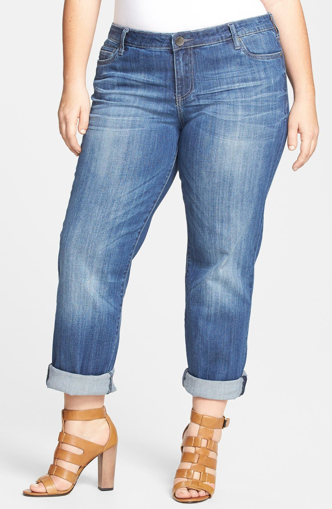 Main Image - KUT from the Kloth 'Catherine' Boyfriend Jeans (Plus Size)