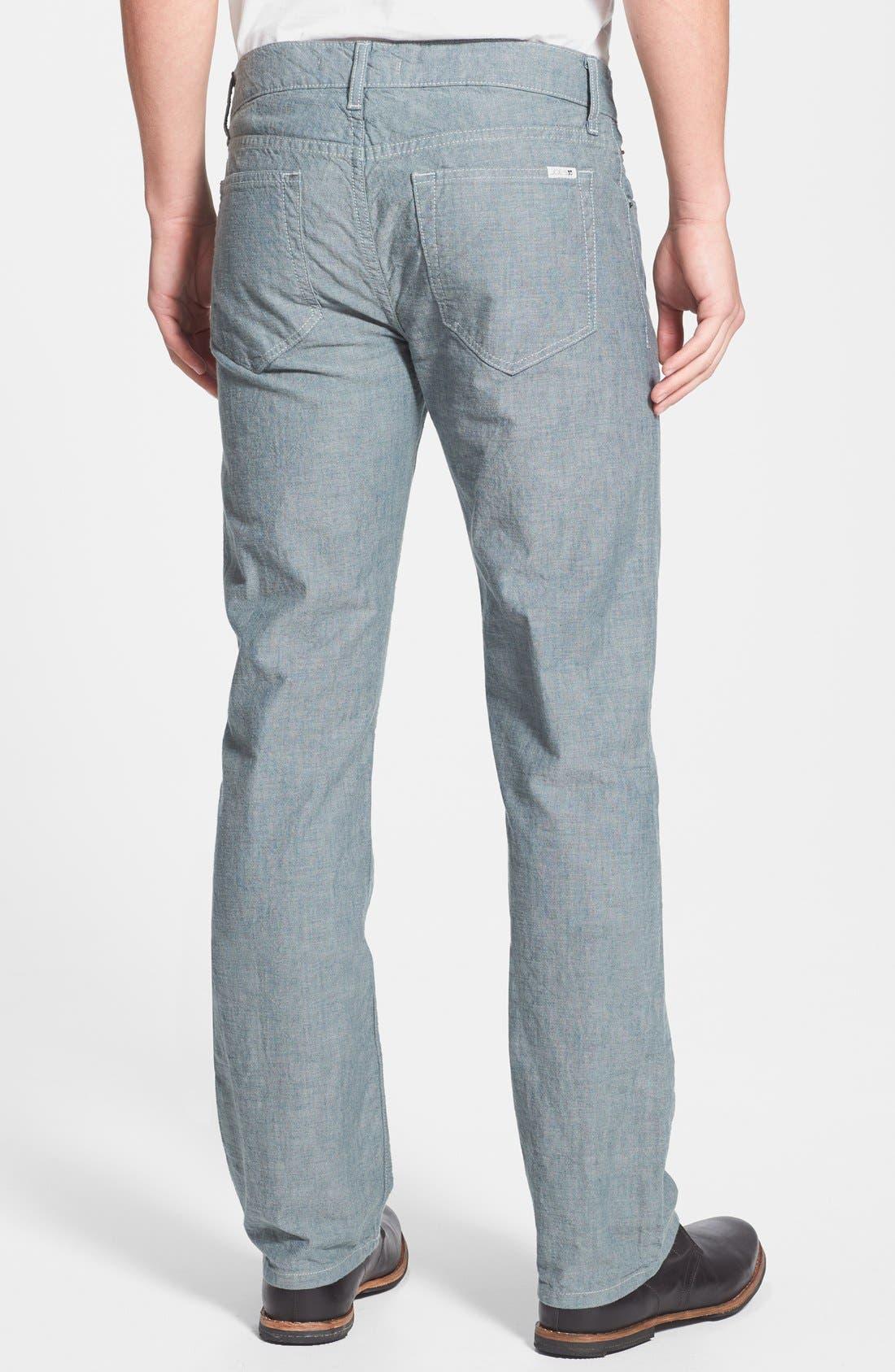 Alternate Image 2  - Joe's 'Brixton' Slim Fit Canvas Denim Jeans (Sidewalk)