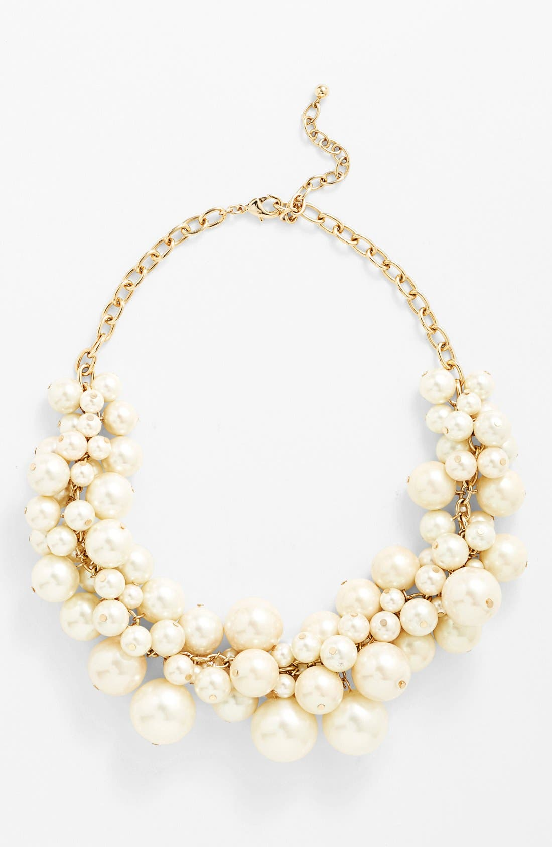 Alternate Image 2  - Nordstrom Faux Pearl Bib Necklace