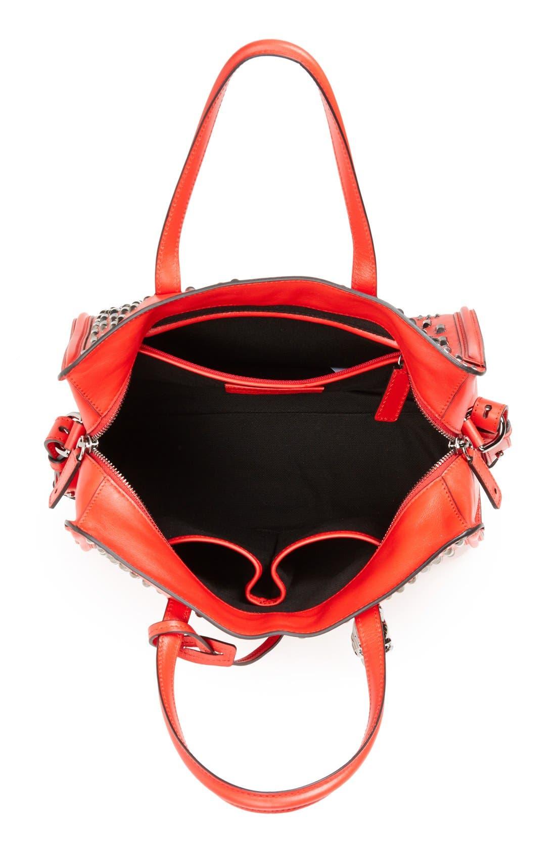 Alternate Image 3  - Alexander McQueen 'Small Padlock' Studded Duffel Bag