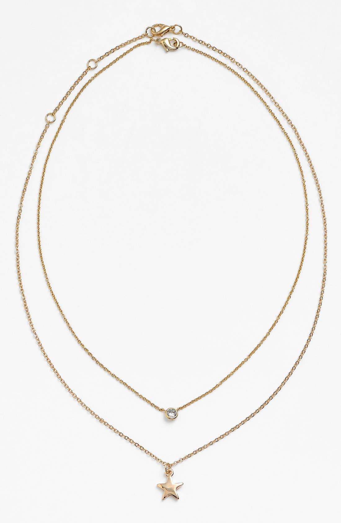 Alternate Image 3  - BaubleBar Round Crystal Pendant Necklace (Online Only)