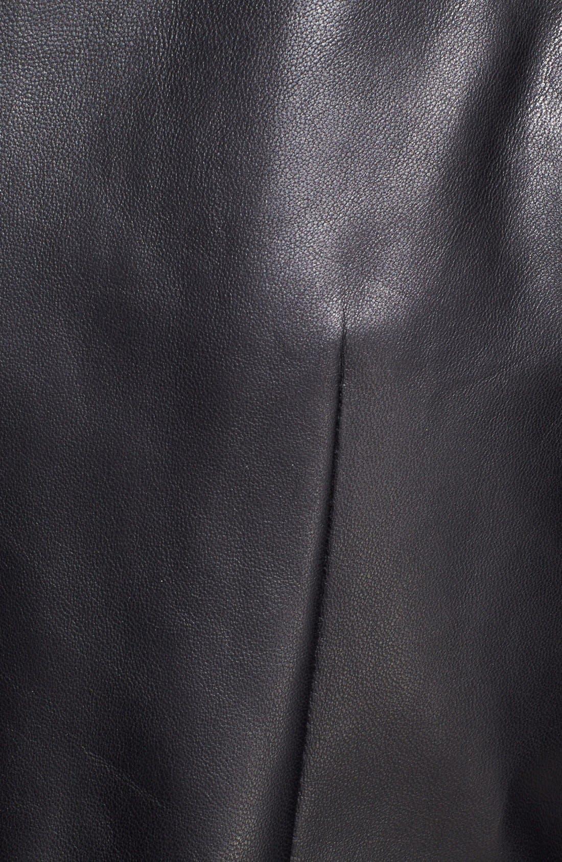 Alternate Image 4  - Tamara Mellon Leather & Silk Georgette Blouse