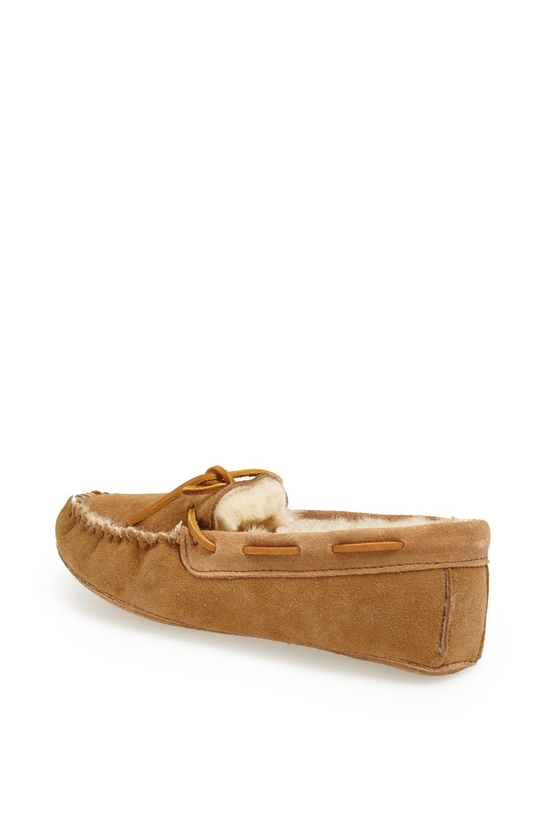 Alternate Image 2  - Minnetonka Softsole Sheepskin Moccasin (Women)