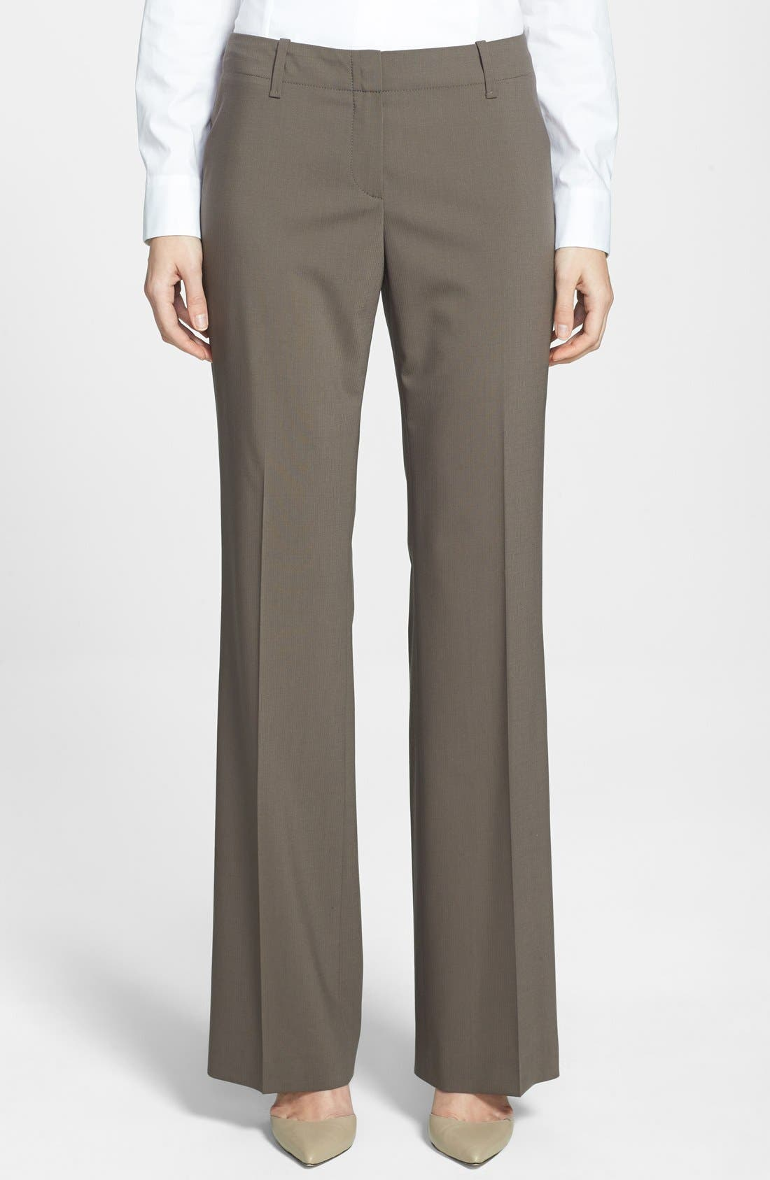 Alternate Image 1 Selected - BOSS 'Tulia' Straight Leg Trousers