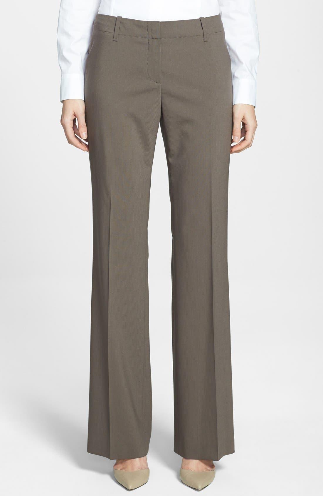 Main Image - BOSS 'Tulia' Straight Leg Trousers