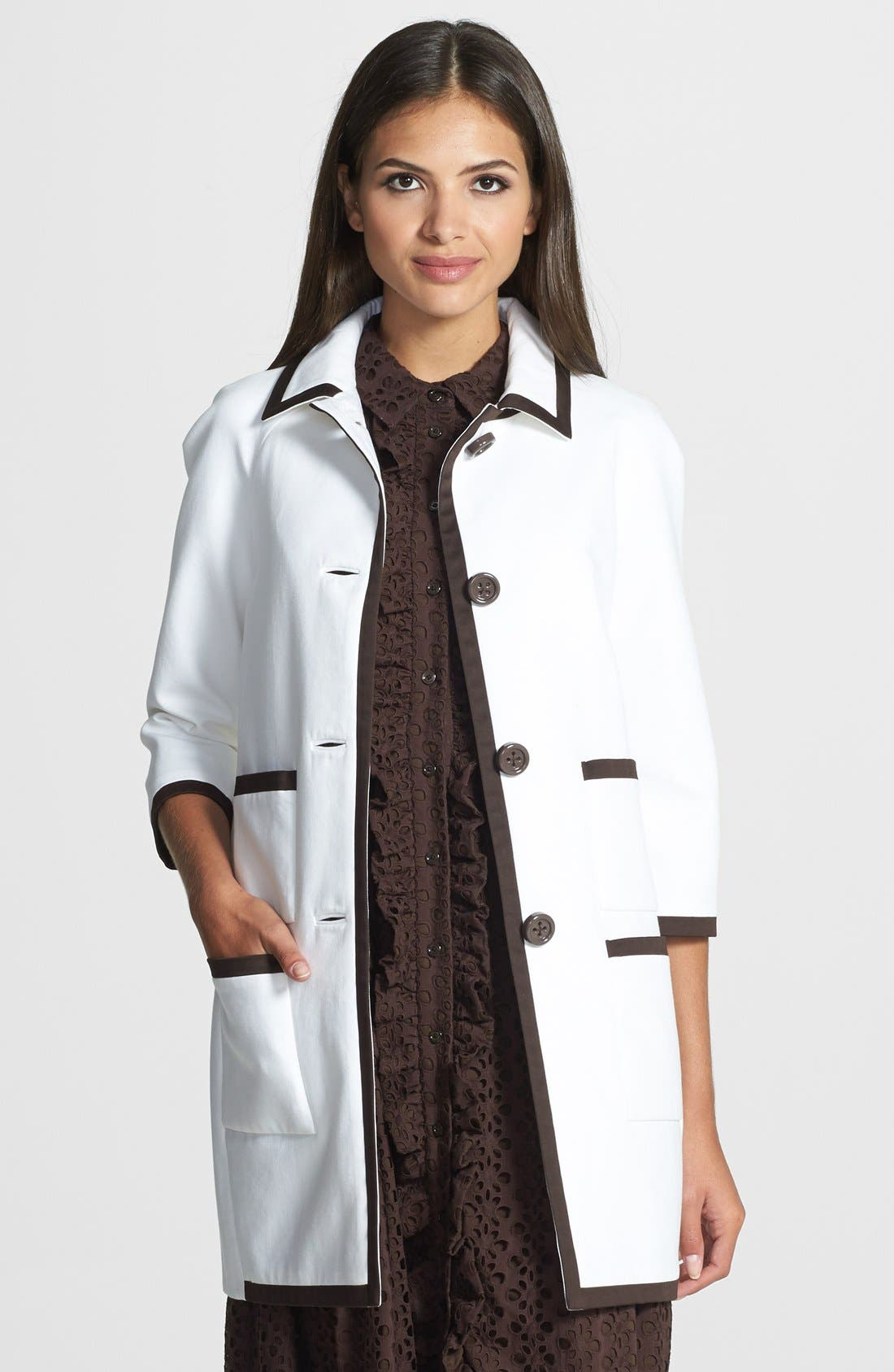 Alternate Image 1 Selected - kate spade new york four-pocket car coat