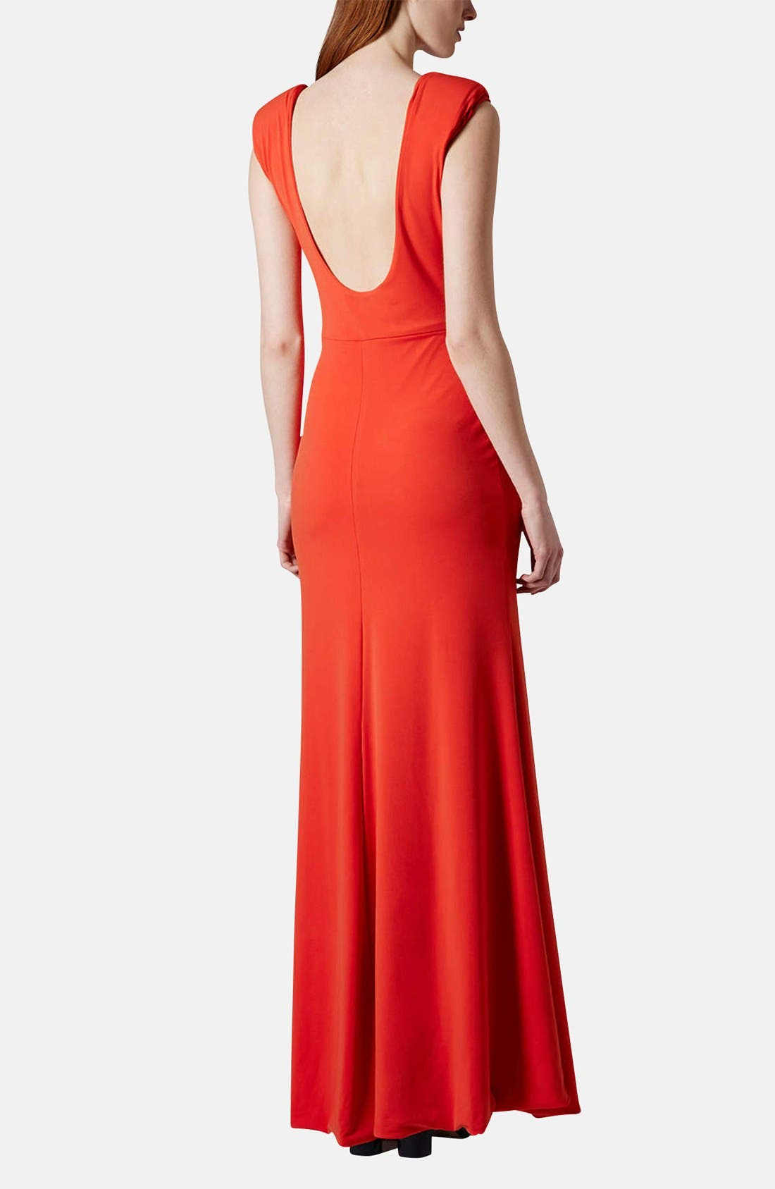 Alternate Image 2  - Topshop Scoop Back Jersey Maxi Dress