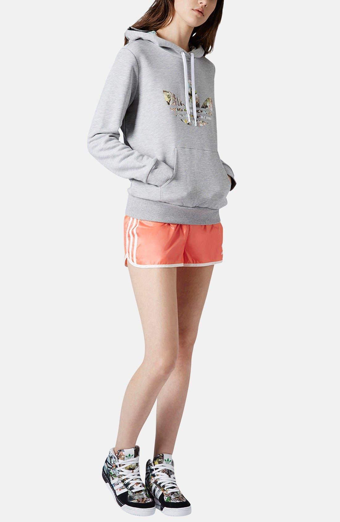 Alternate Image 5  - Topshop x adidas Originals Orange Shorts