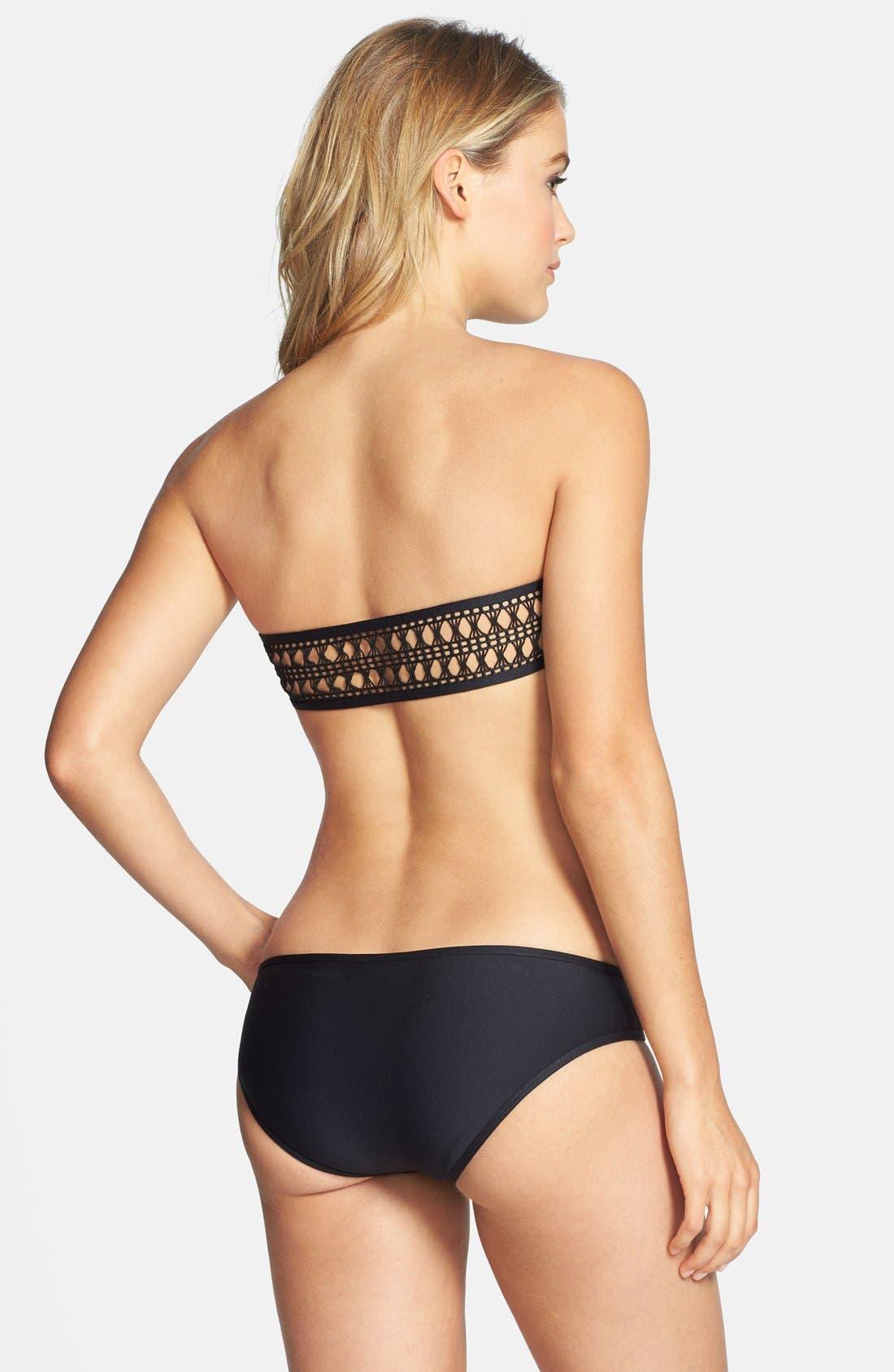 Alternate Image 4  - Ella Moss 'Retro' Crochet Detail Bikini Bottoms