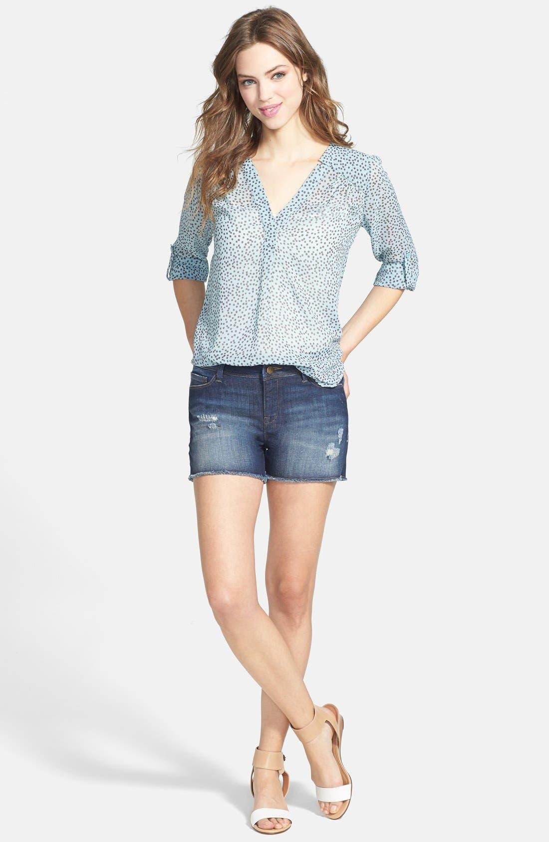 Alternate Image 4  - Mavi Jeans 'Emily' Cutoff Destroyed Denim Shorts (Vintage)