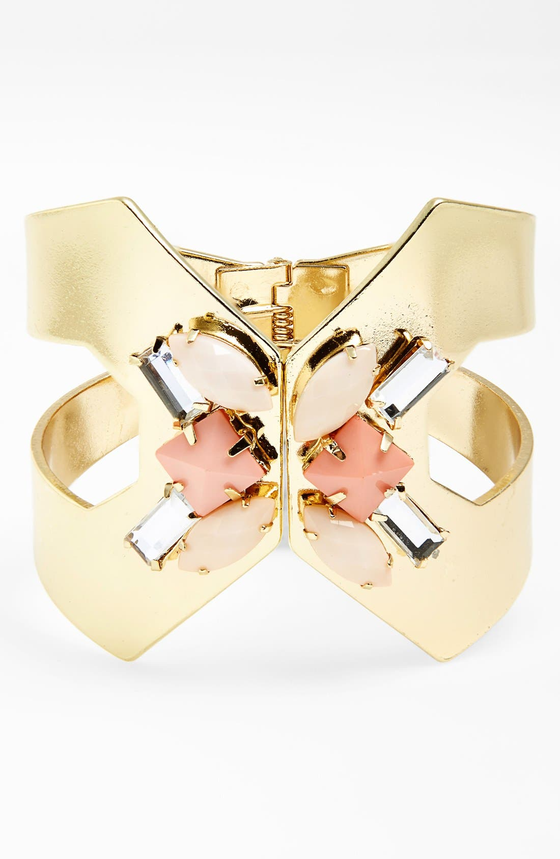 Alternate Image 1 Selected - Topshop Embellished Cutout Hinged Cuff