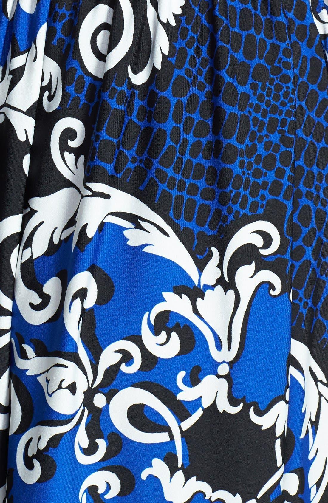 Alternate Image 4  - Ellen Tracy Print Jersey Fit & Flare Dress