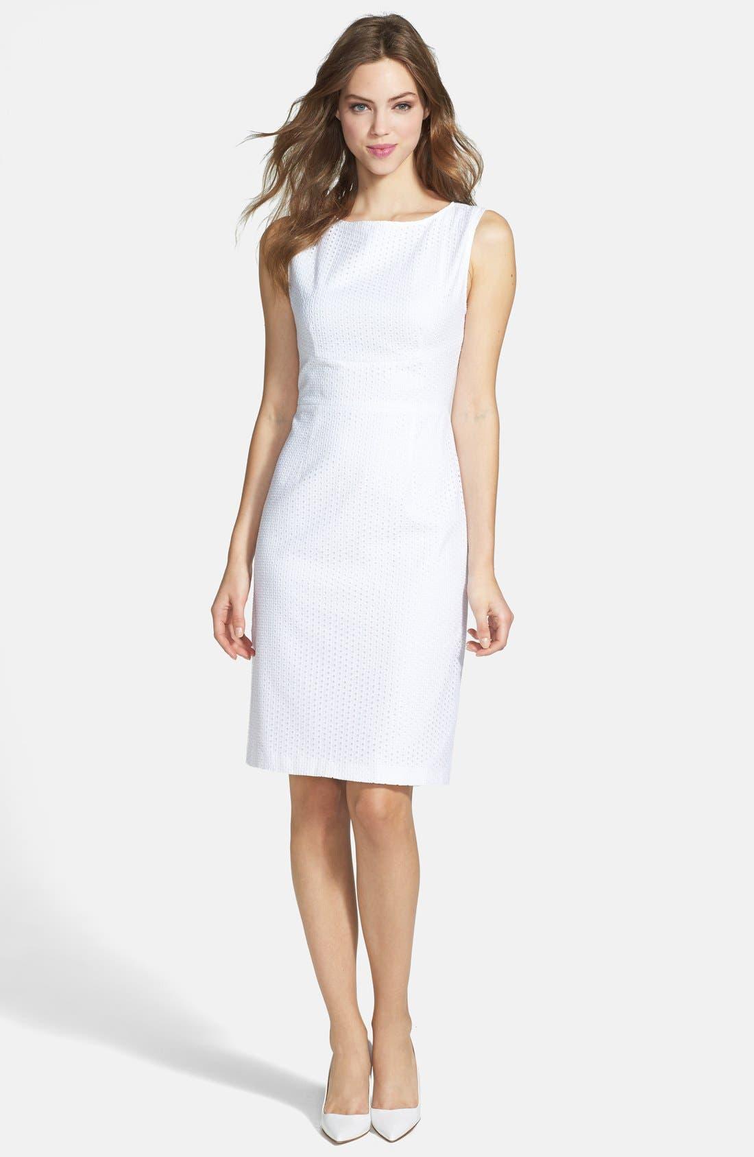 Main Image - T Tahari 'Myra' Peplum Sheath Dress