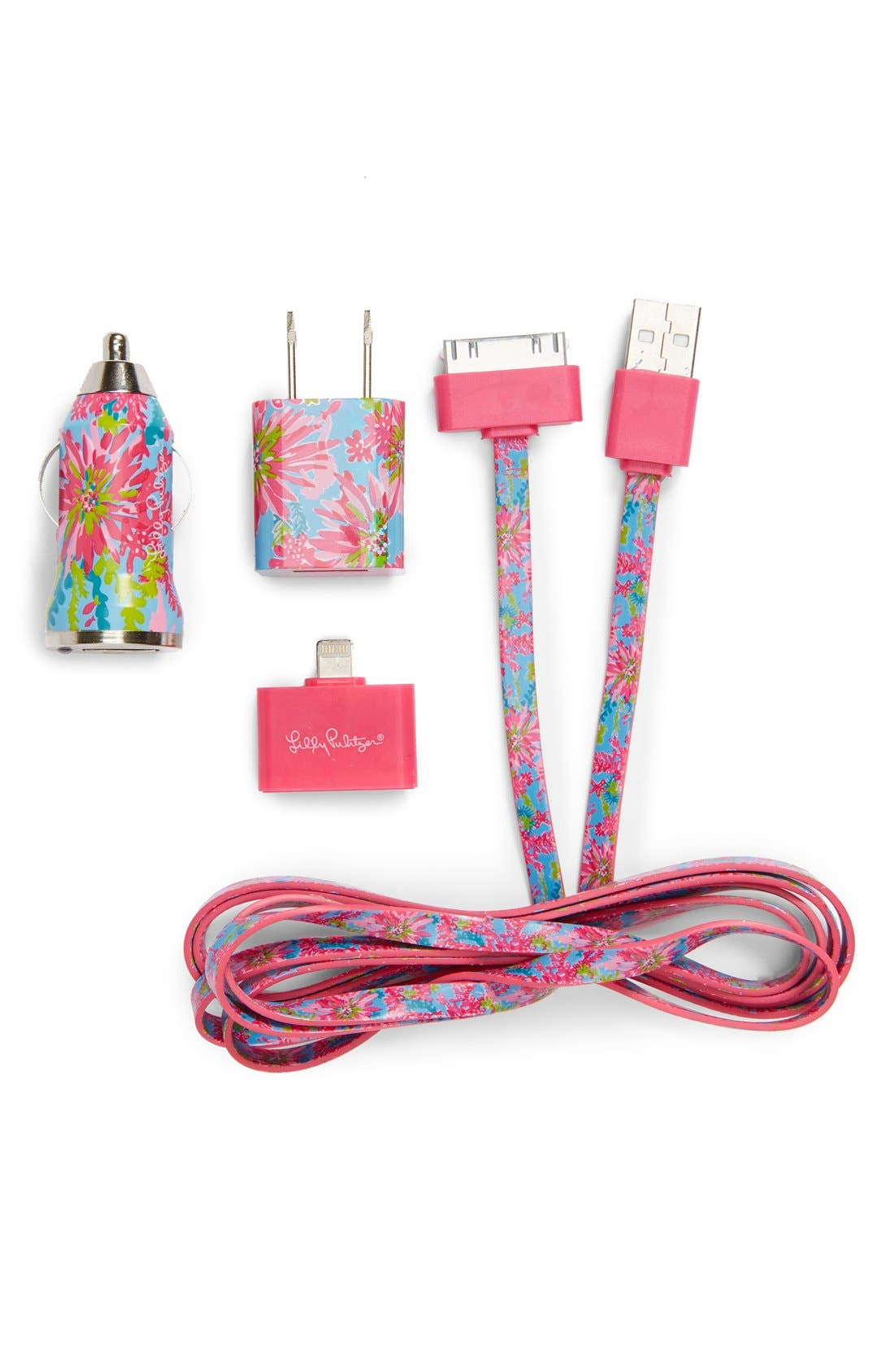 Main Image - Lilly Pulitzer® 'Trippin & Sippin' iPhone Charging Kit