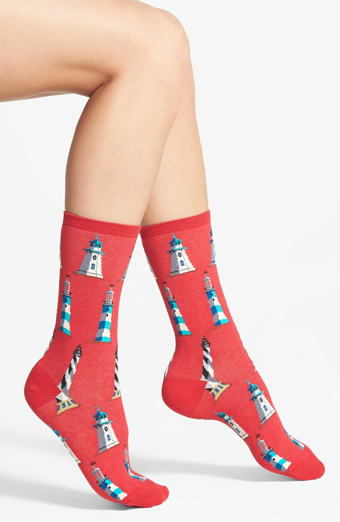 Alternate Image 1 Selected - Hot Sox 'Lighthouse' Crew Socks