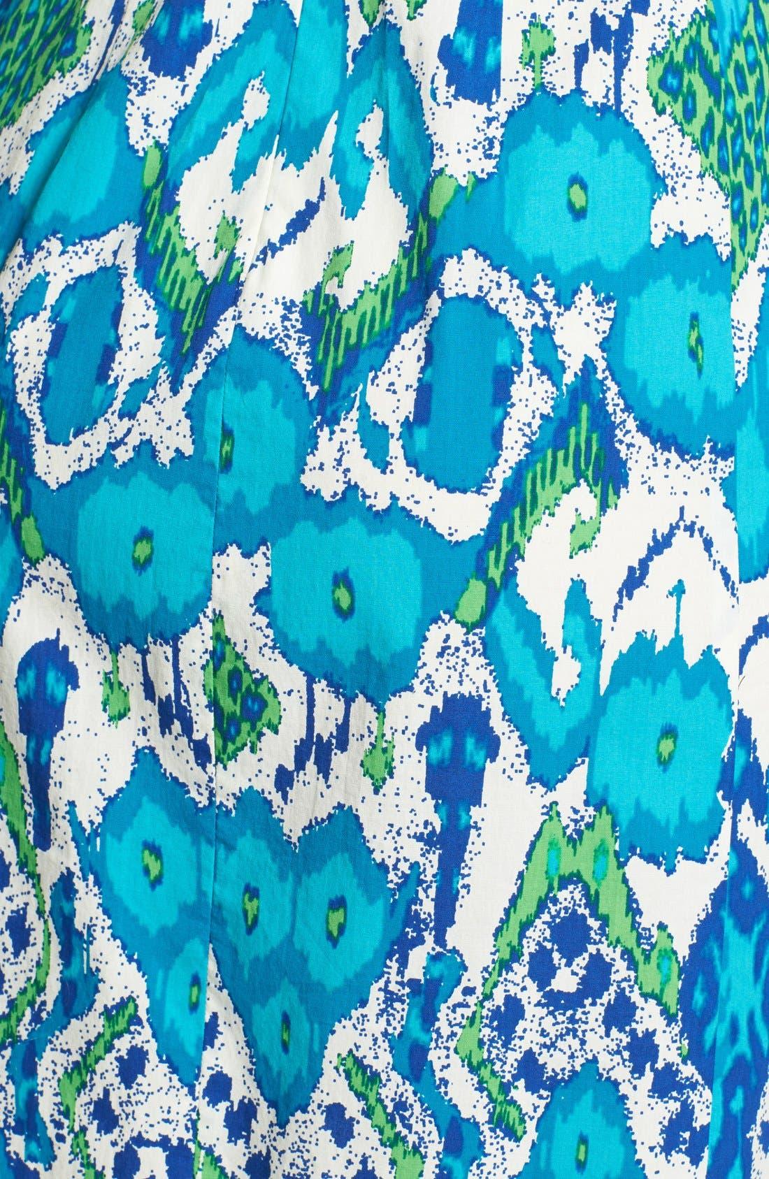 Alternate Image 4  - Plenty by Tracy Reese 'Victoria' Print Stretch Cotton Sheath Dress (Regular & Petite)