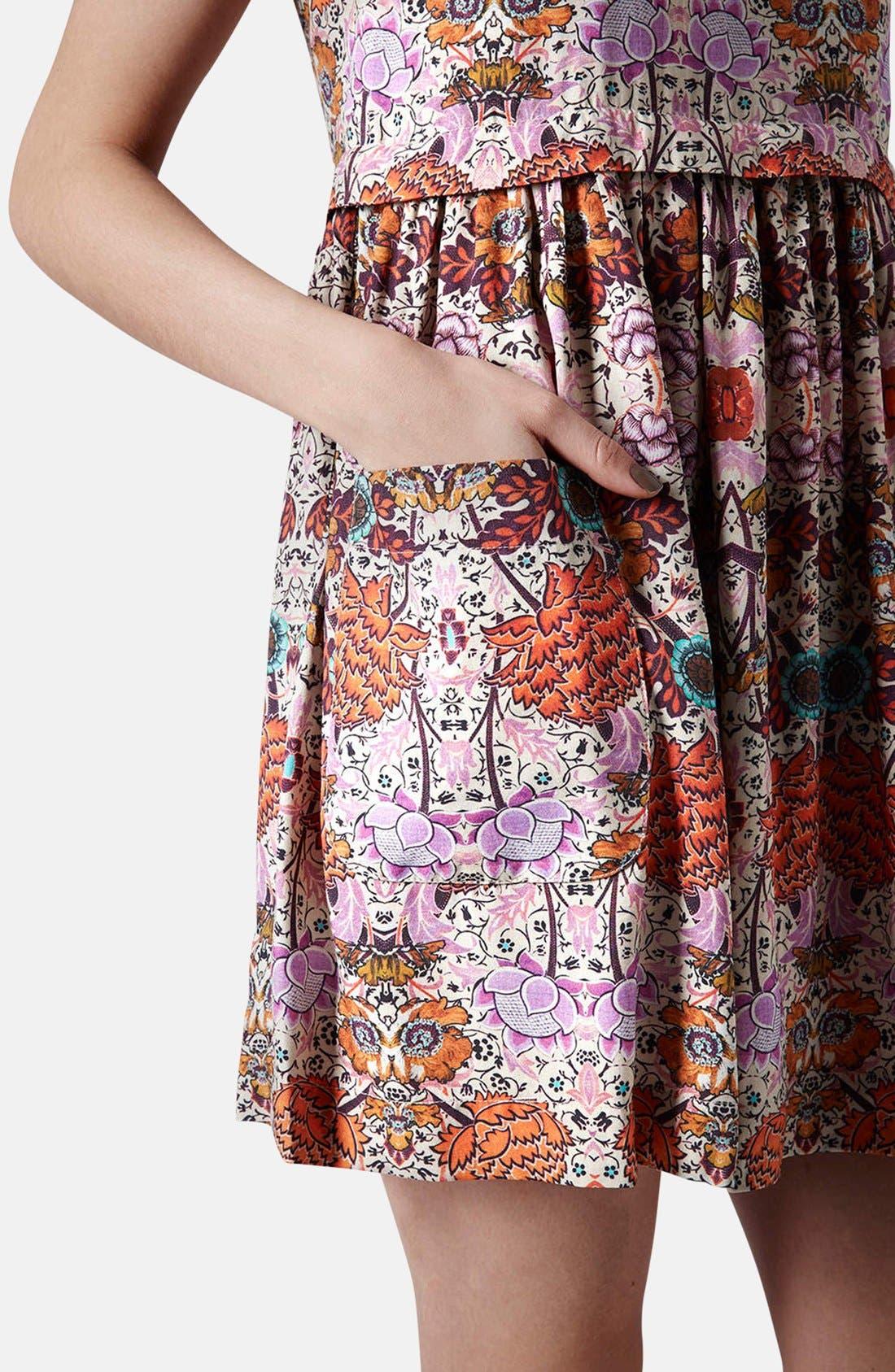 Alternate Image 4  - Topshop 'Folklore' Print Shift Dress