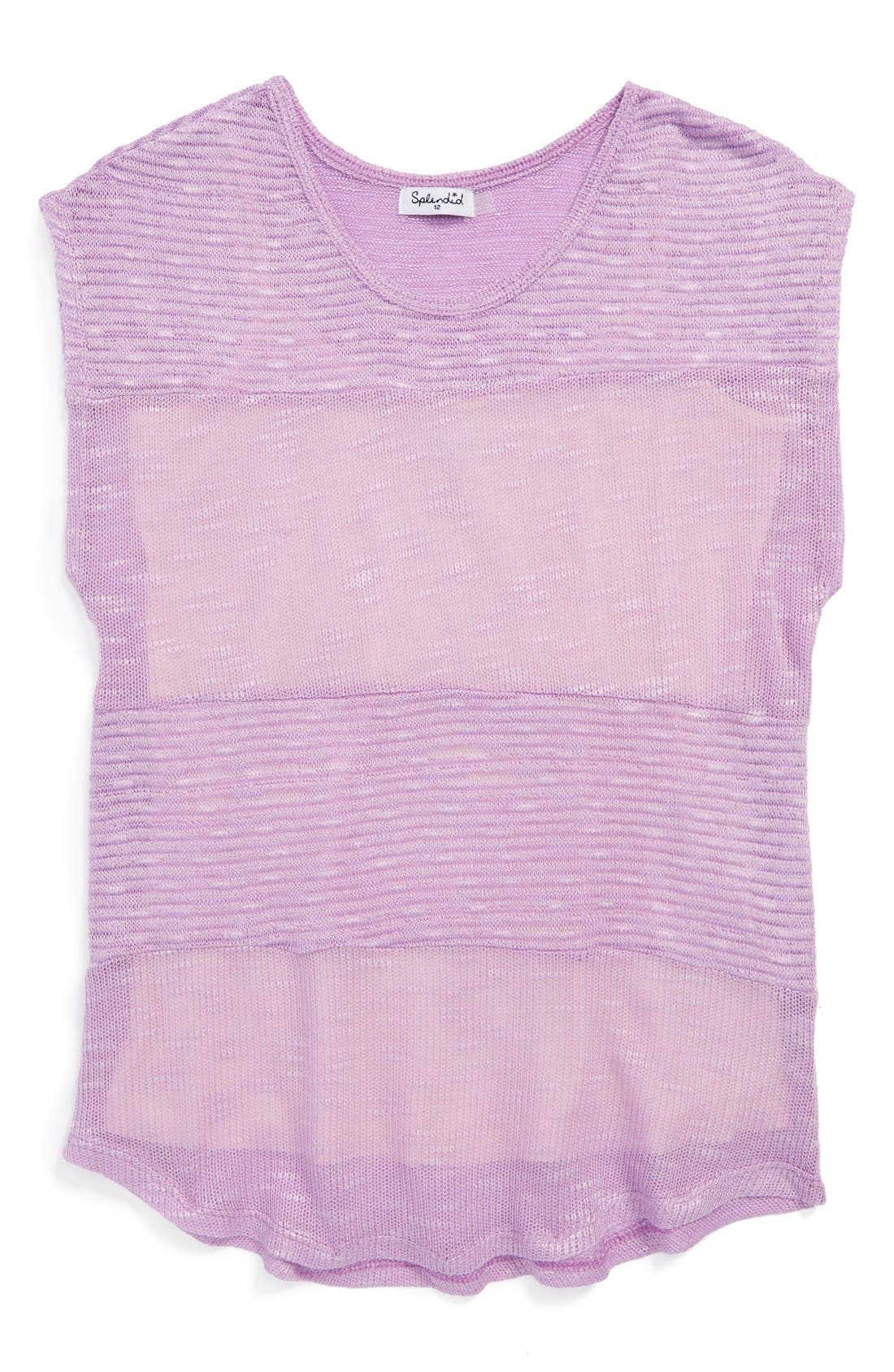Alternate Image 1 Selected - Splendid Loose Knit Top (Big Girls)