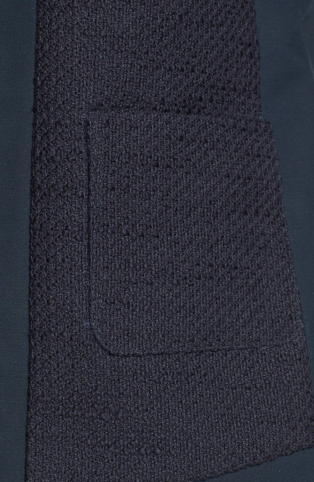 Alternate Image 3  - MICHAEL Michael Kors Mixed Media V-Neck Jacket