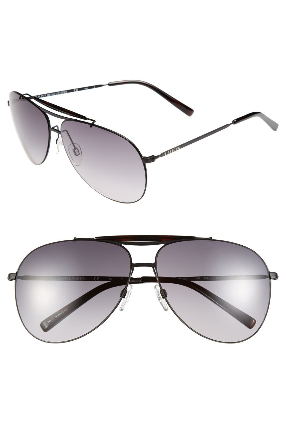 Alternate Image 1 Selected - Tommy Hilfiger 63mm Aviator Sunglasses