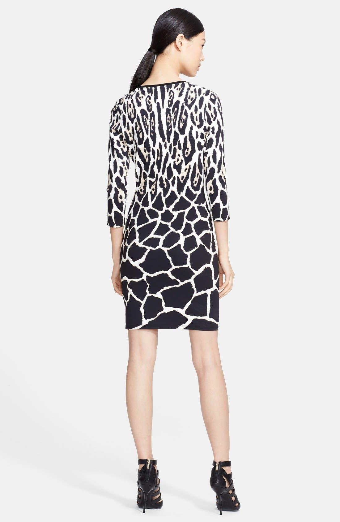Alternate Image 2  - Roberto Cavalli V-Neck Animal Print Dress