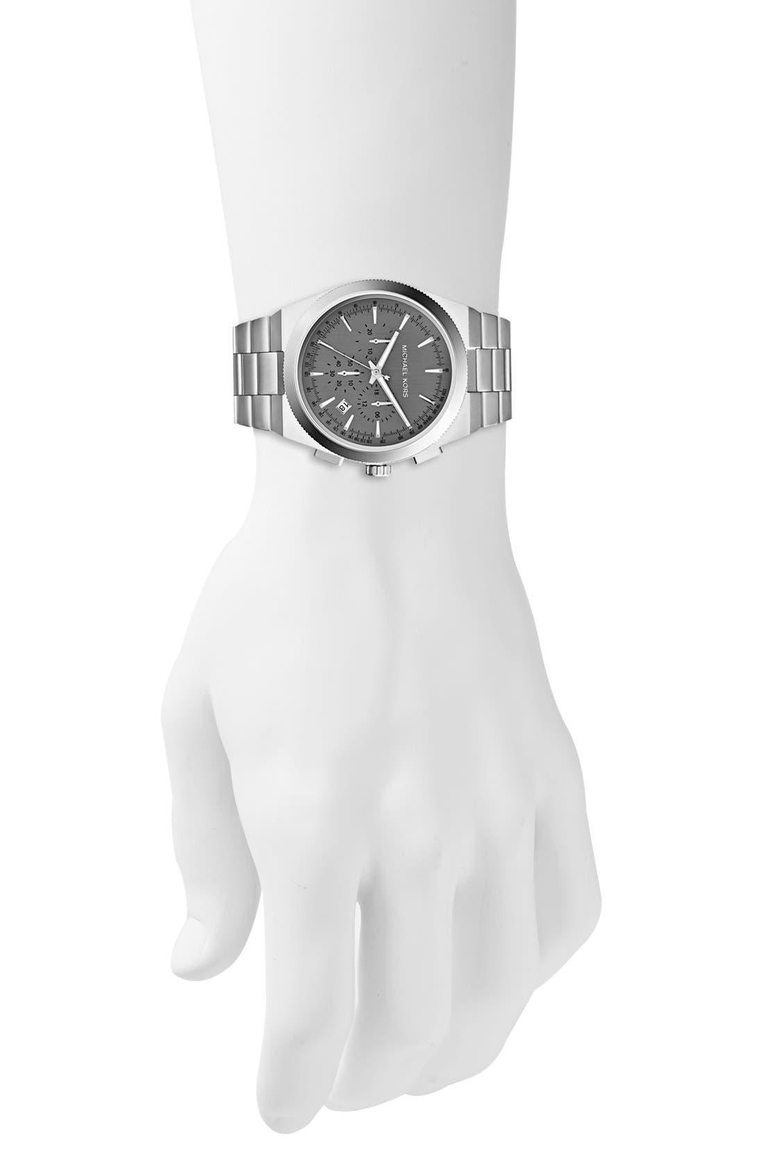 Alternate Image 4  - Michael Kors 'Channing' Chronograph Bracelet Watch, 43mm