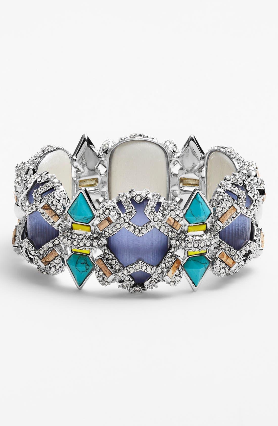 Alternate Image 1 Selected - Alexis Bittar 'Lucite® - Neon Deco' Wide Bracelet