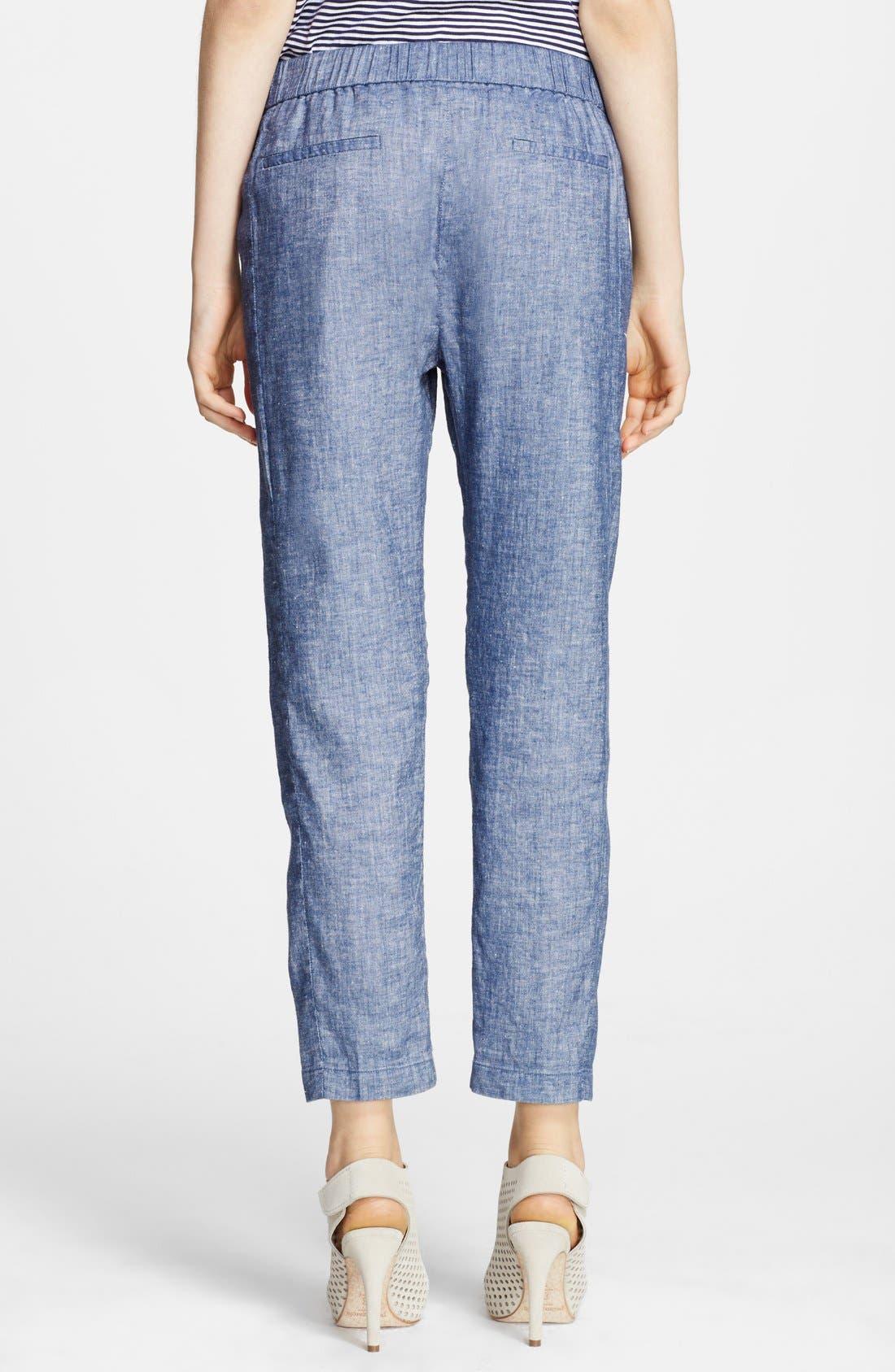 Alternate Image 2  - Theory 'Korene' Crop Chambray Pants