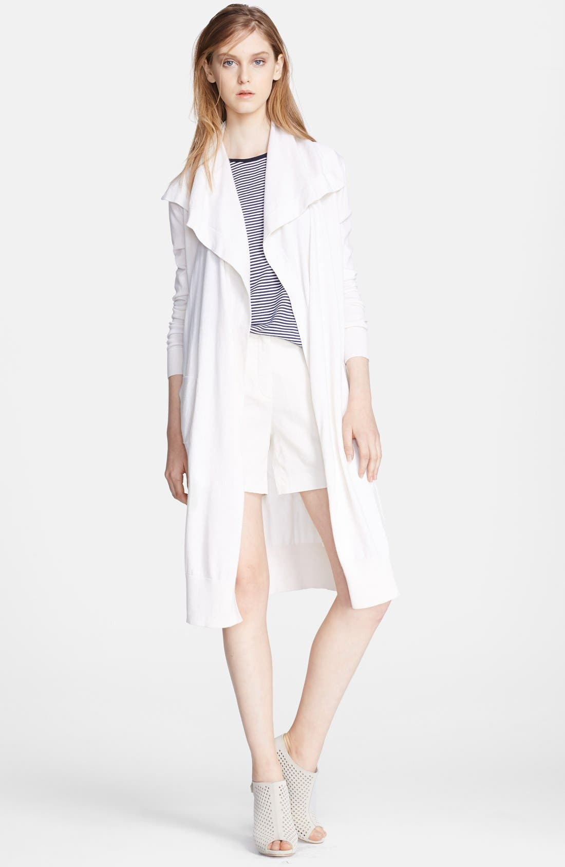 Alternate Image 1 Selected - Theory 'Casterly' Cotton & Cashmere Cardigan