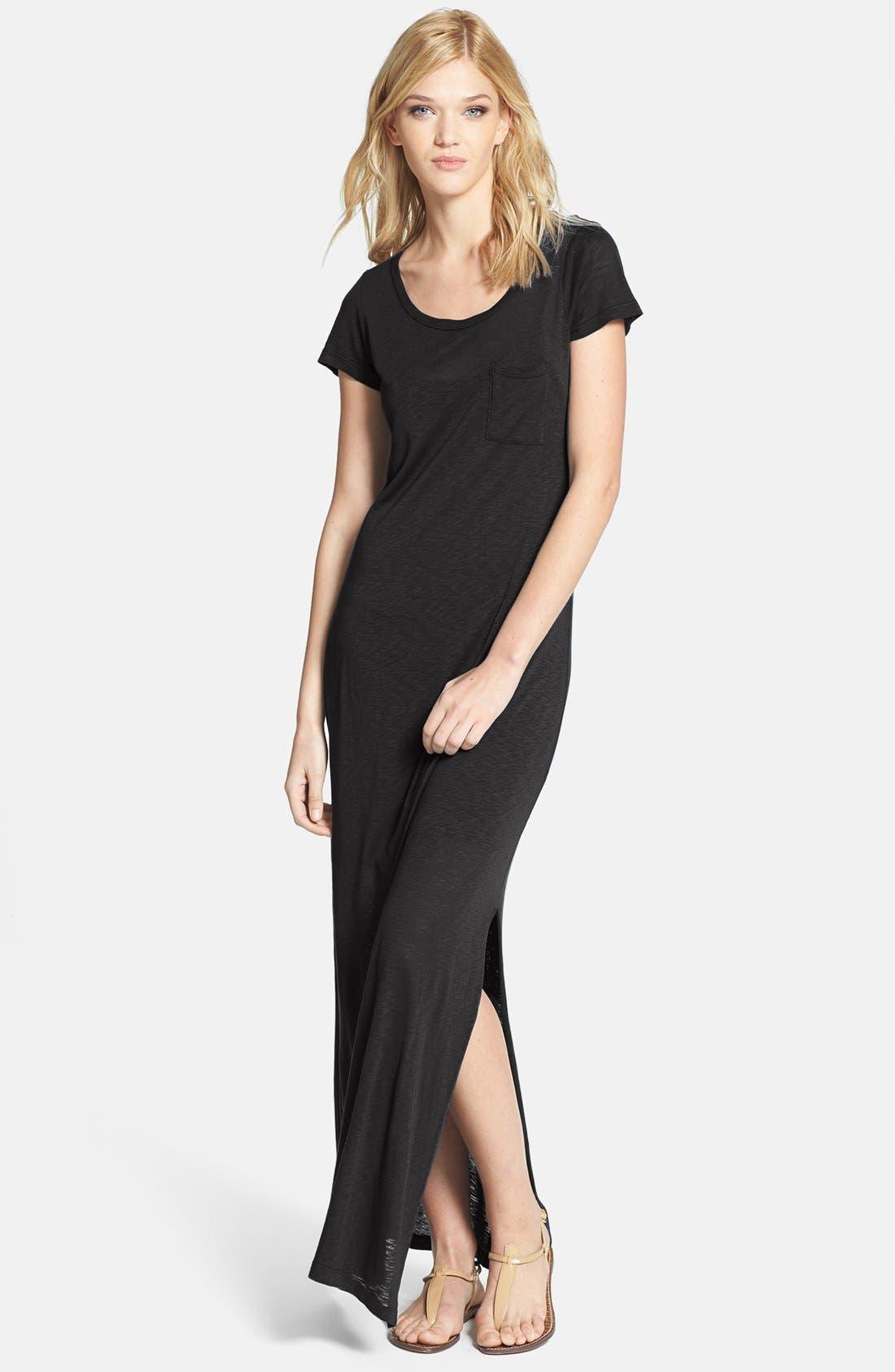 Alternate Image 1 Selected - Splendid Slub Knit T-Shirt Maxi Dress